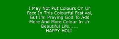 Happy Holi Motivational Status