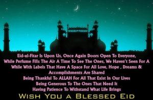 Eid Mubarak status in Hindi 2019