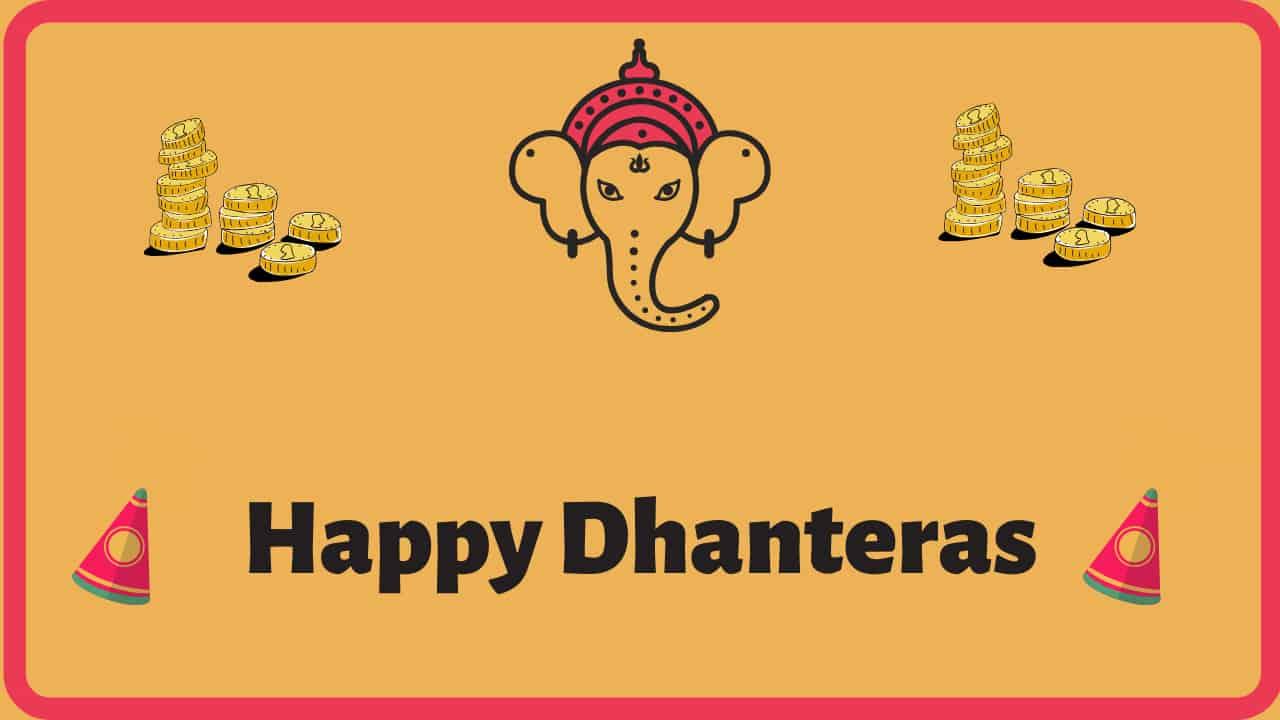 Happy Dhanteras Wishes & Status in Hindi & English