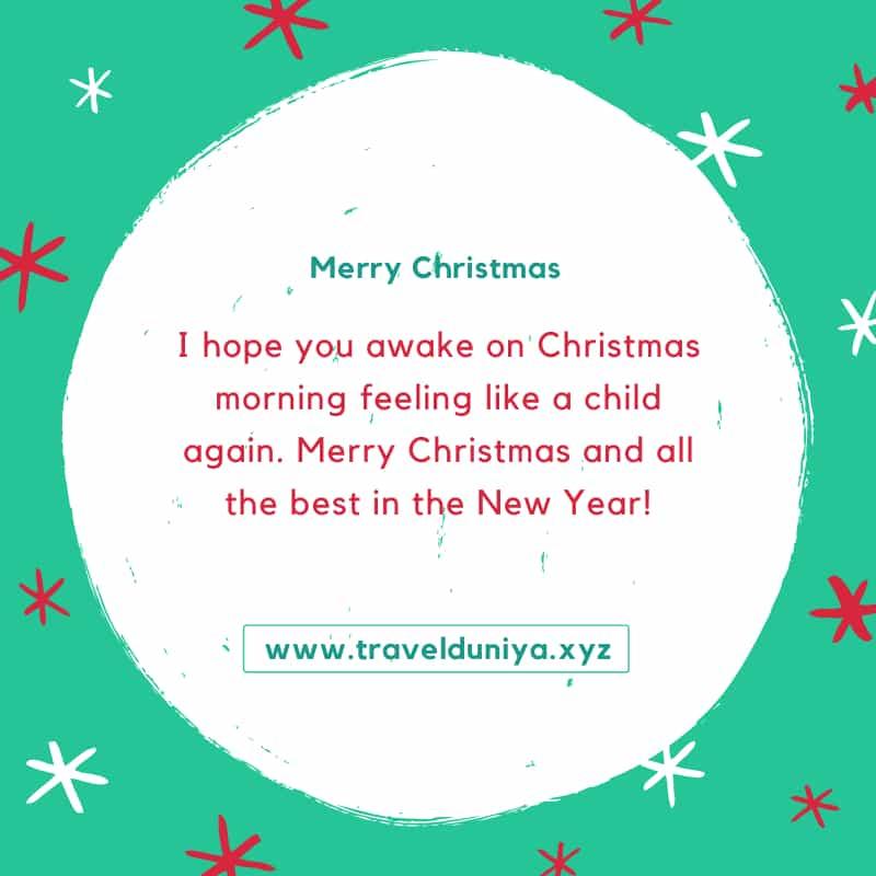 Merry Christmas Status in English