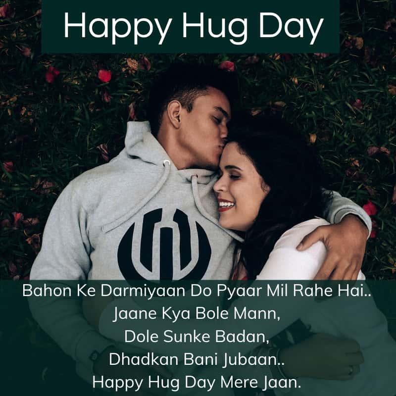 Happy Hug Day Status