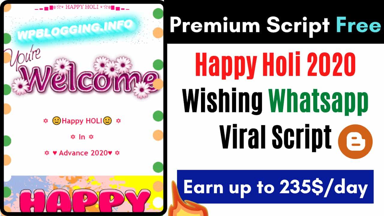 Holi Whatsapp Wishing Script