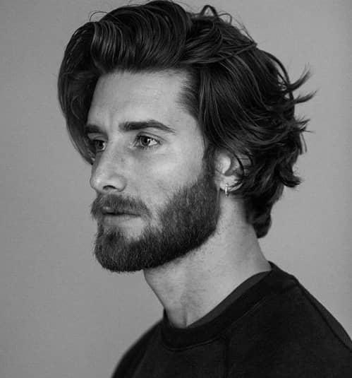 Mens Haircut for long hair