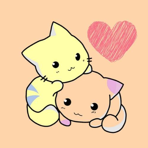 Cat Love Cartoon DP